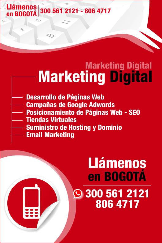 d03e5aa661 Diseño web posicionamiento Google Adwords cursos Bogotá tiendas ...